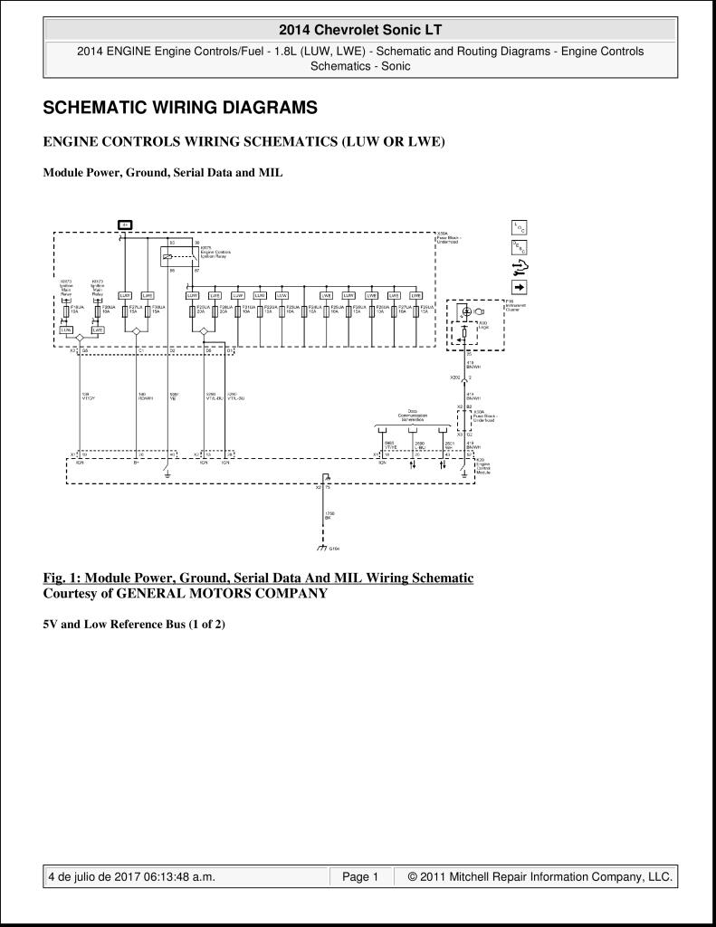 2014 chevrolet sonic lt wiring diagrams.pdf (957 kb) - repair manuals -  english (en)  chevrolet club